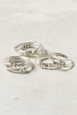 Anthropologie Catbird Wee Initial Ring