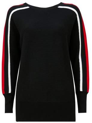 Wallis Black Striped Sleeve Ribbed Jumper