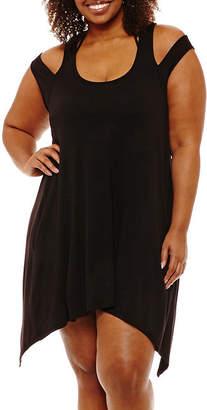 Porto Cruz Jersey Swimsuit Cover-Up Dress-Plus