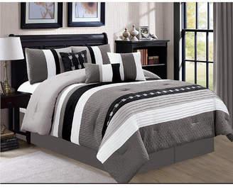 Luxlen Broadwell 7 Piece Comforter Set, Cal King Bedding