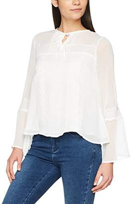 41b7806f15008 New Look Women s Hayley Lace   Pleat Regular Fit Plain Classic Long Sleeve  Long Sleeve Top