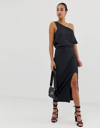 Asos Design DESIGN midi dress with drape