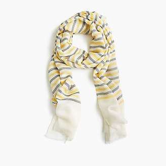 J.Crew Lightweight wool scarf in stripe