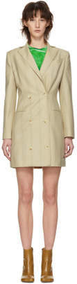 Eckhaus Latta Beige Double-Breasted Suit Dress