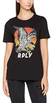 Replay Women's Eagle Print Shirt T (Black 98), XX-Small