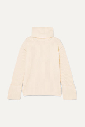 Equipment Uma Oversized Wool And Cashmere-blend Turtleneck Sweater - Ivory