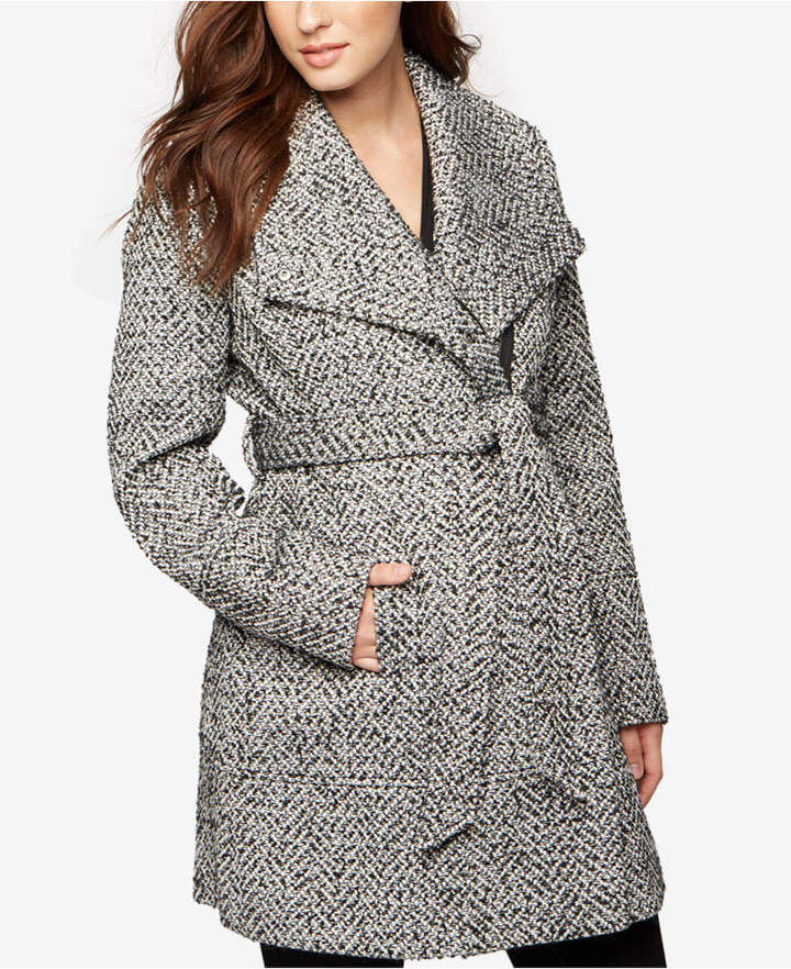 A Pea In The PodA Pea In The Pod Maternity Belted Shawl-Collar Coat