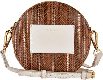 Logo By Lori Goldstein LOGO by Lori Goldstein Leather Circle Pouch with Skinny Strap