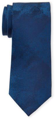 Calvin Klein Navy Camouflage Dot Silk Tie