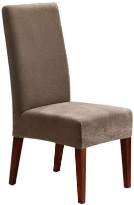 Sure Fit Stretch Pique - Shorty Dining Room Chair Slipcover - Taupe (SF36848)