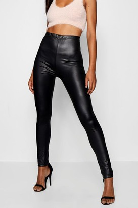 boohoo Tall Wet Look Leggings