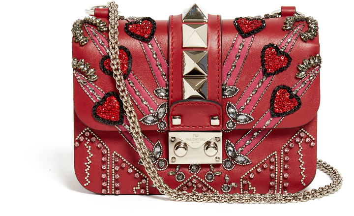ValentinoVALENTINO Lock Love Blade leather cross-body bag