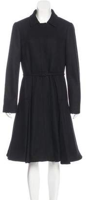 RED Valentino Flared Wool Coat