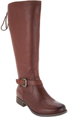 Earth Leather Tall Shaft Lace-back Boots - Raleigh