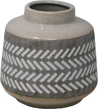 Sagebrook Home Gray/White Etched Vase 6.5In