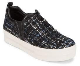 Ash Textured Slip-On Sneakers