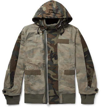 Sacai Panelled Camouflage-Print Cotton Jacket