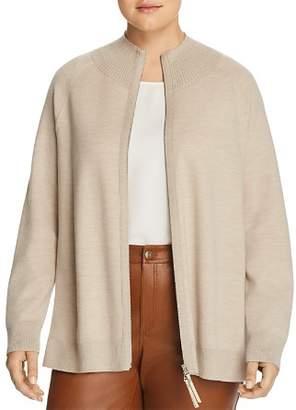 Lafayette 148 New York Plus Wool Zip-Front Cardigan