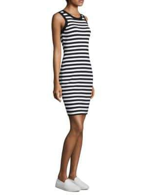 MICHAEL Michael Kors Striped Tank Dress