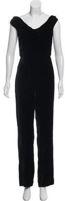 Cushnie et Ochs Sleeveless Velvet Jumpsuit