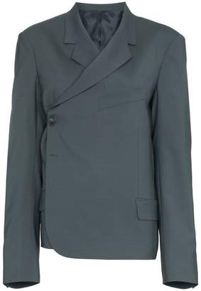 Martine Rose twisted double breasted wool blend blazer