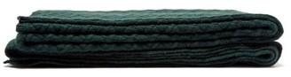 Allude Cross Knit Cashmere Blanket - Dark Green
