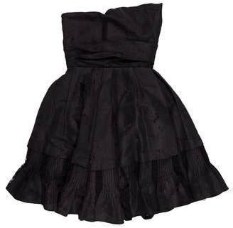 John Galliano Silk Mini Dress