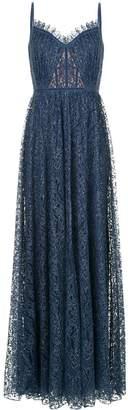 Tadashi Shoji flared fine lace gown