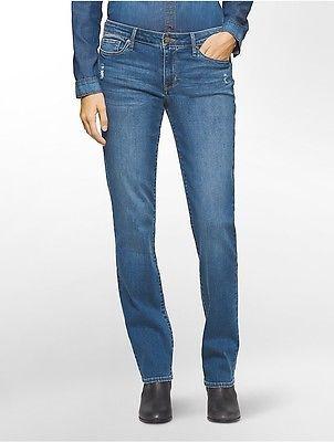 Calvin KleinCalvin Klein Womens Straight Leg Twilight Water Jeans