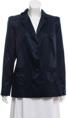 Magaschoni Long Sleeve Satin Blazer