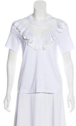 Alexis Short Sleeve Sheer Panel Top w/ Tags