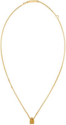 Ambush Gold Nobo Skull Charm Necklace