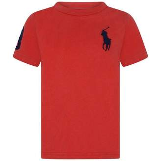 Ralph Lauren Ralph LaurenBoys Red Crew Neck Jersey Top