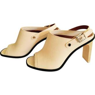 Coach White Leather Sandals
