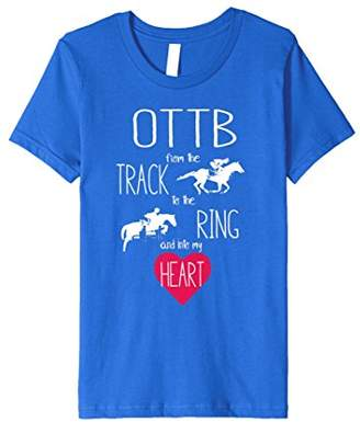 OTTB Off Track Thoroughbred Horse Love Equestrian T-shirt