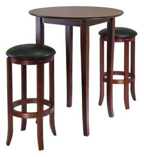 Winsome Fiona Round 3-Pc High/Pub Table Set