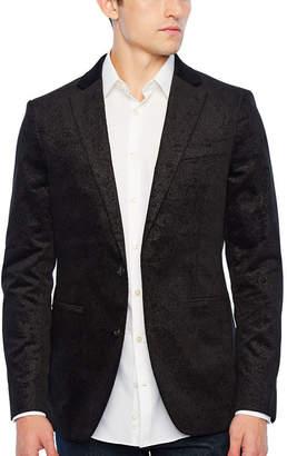 Jf J.Ferrar Slim Fit Velvet Paisley Sport Coat