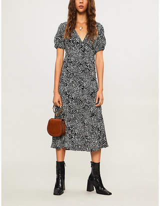 Free People Looking For Love printed woven midi dress
