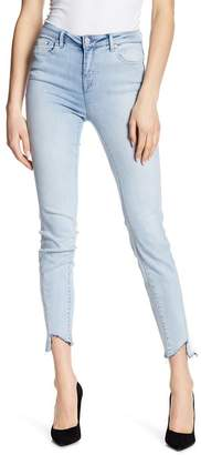 Tractr High Waist Chewed Hem Skinny Jeans