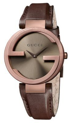 Gucci Ladies G Watch with Purple Leather Strap