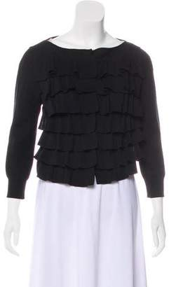 Giambattista Valli Silk Cropped Cardigan