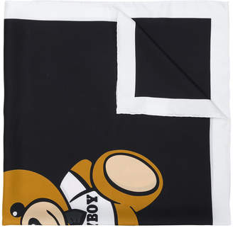 Moschino monochrome silk scarf
