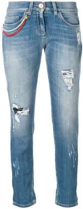 Elisabetta Franchi cropped skinny-fit jeans