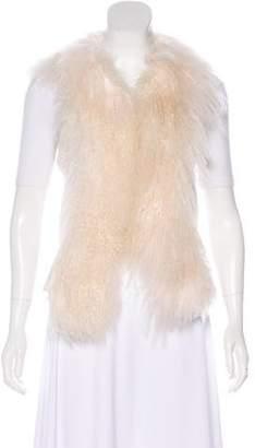 Alberto Makali Fur-Trimmed Knit Vest