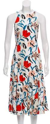 Thakoon Floral Print Midi Dress w/ Tags