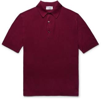 John Smedley Roth Sea Island Cotton-Piqué Polo Shirt