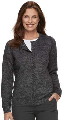 Croft & Barrow Petite Print Extra Cozy Cardigan