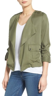 Women's C & C California Drape Front Jacket $120 thestylecure.com