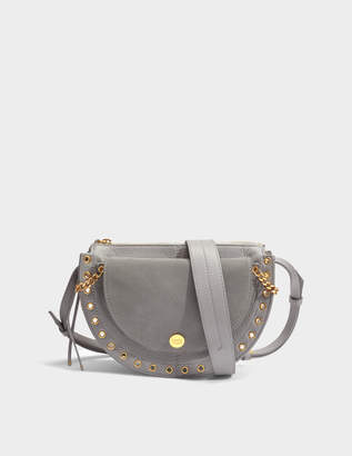 Kriss Small Crossbody Bag in Skylight Grained Cowhide Leather and Suede Leather See By Chlo pZuUqqECN
