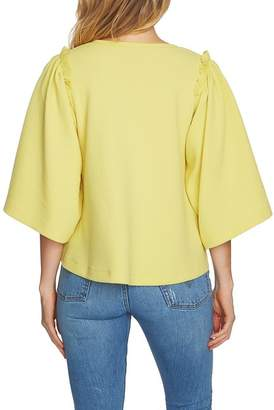 1 STATE 1.State V-Neck Bell Sleeve Top